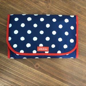 Stella & Dot, Red, White & Polka Dot Jewelry Bag